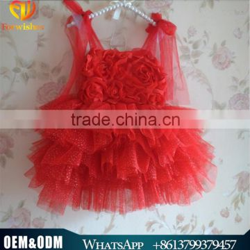 2016 New Arrival Elegant Western Party Wear Dresses Kids Christmas Party Dresses