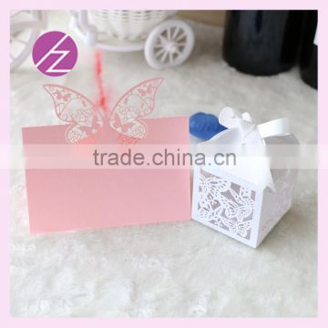 Free Logo Free Sample Laser Cut Customizable Style Beautiful Butterfly Wedding Favor Candy Box And Wedding