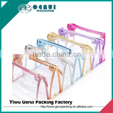 clear pvc cosmetic bag with ziiper