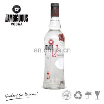 Chinese supplier wholesale 750ml vodka with private label