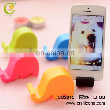 Convenient silicone cell phone holder/stander Portable Tablet PC Fixed Cartoon Colorful Elephant Fashion Novel