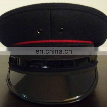 customizing uniform cap for officers