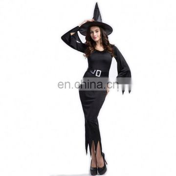 2017 Carnival Cosplay Black Long Witch Dress Halloween Costumes China Wholesale