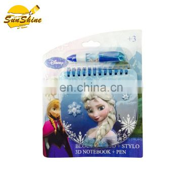 SPECIAL FROZEN NOTE BOOK WITH PEN FOR KIDS