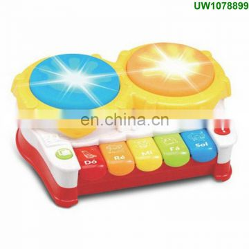 Baby Toy Drum, Musical Learning Drum with Flashing LED Lights Electronic Education Toys for Toddlers Early Development