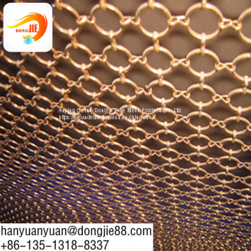 chain link ring mesh for metal curtain
