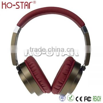 Mobile accessories top quality leather headband soft touching stereo noise cancelling headphone