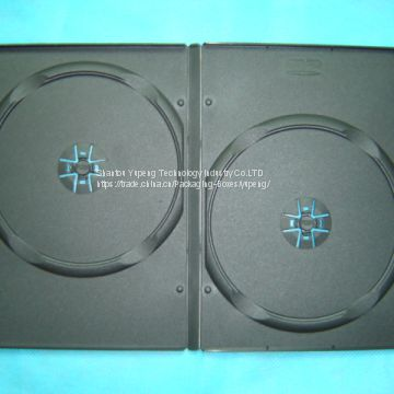 black dvd box  dvd case  dvd cover 9mm double rectange china factory good quality cheap price (YP-D803H)