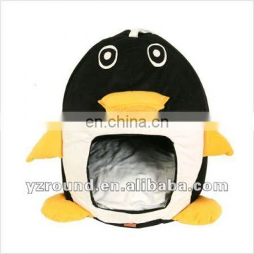 penguin shape indoor plush dog house pet house pet cushion by