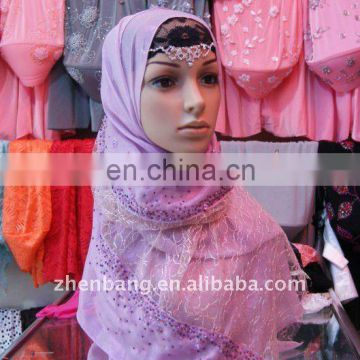 Muslim Lady Classic Silk Scarf Hot Sell