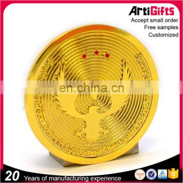 Wholesale Promotion Custom Plated Metal Commemorative Coin For Sale