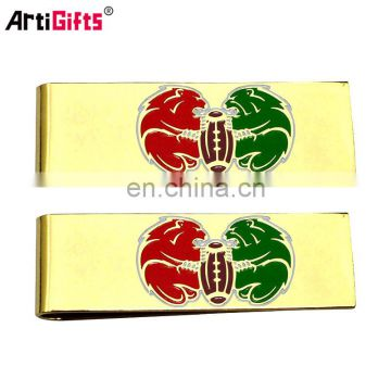 China Factory Supply Wholesale Custom Gold Metal Money Clips With Customized Logo