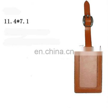 Stylish Handmade Leather Baggage Tag With Adjustable Strap