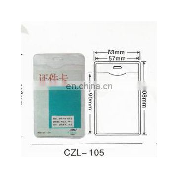 clear waterproof soft plastic name badge holder