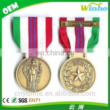 Winho religious medal with ribbon