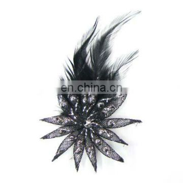 2012 newest handmake fabric feather hair comb hair headband hair pin hair accessory garment accessory