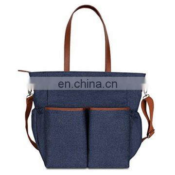 Denim Diaper Tote Bag - Super Cute Matching Baby Changing Pad
