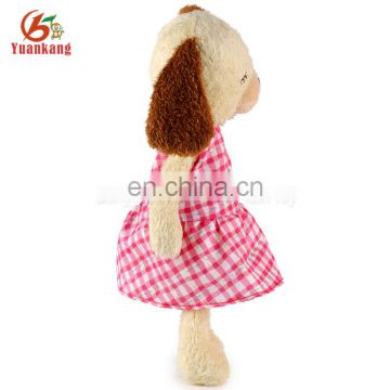 ICTI certificate factory stuffed dog toy with skirt