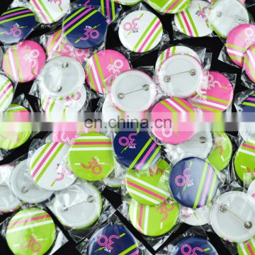 custom round plastic button badge