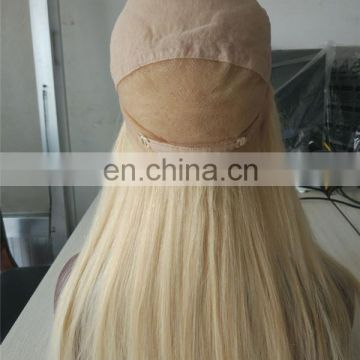 Faceworld real mink soft peruvian blonde virgin human hair full lace wig with baby hair