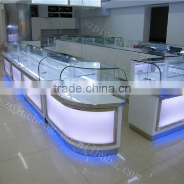 Wood Paint Mobile Phone Shop Counter Design Made In China Of New