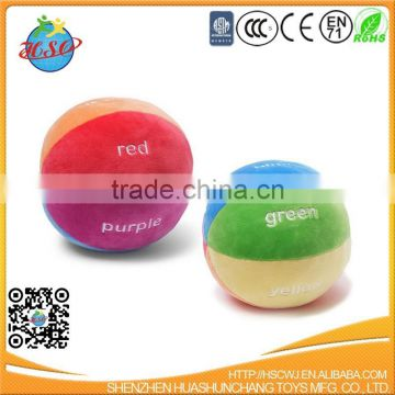 Color Fun Educational Stuffed Rattle Ball