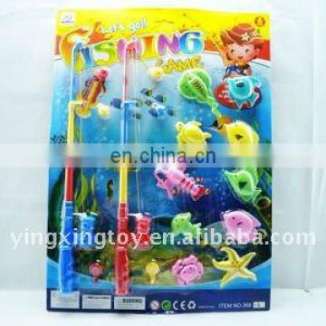 double fishing pole magnetic fishing game