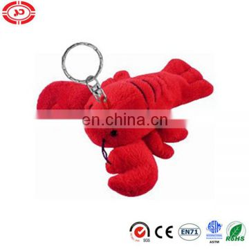 Red lobster velboa promotional selling keychain toy