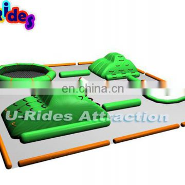 commercial floating inflatable water park with slide