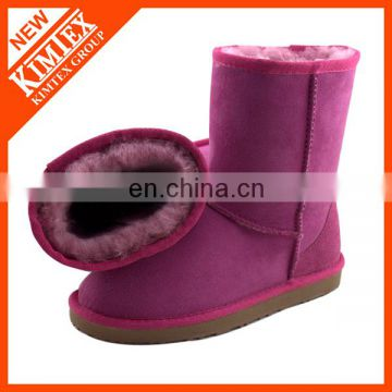 purple winter boots with warmed wool inside