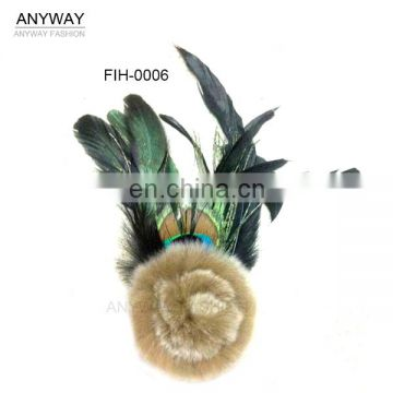 cheap natural artificial peacock feather with eyes