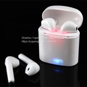 Noise Cancelling  earphones Wireless Bluetooth Headphone Wireless Stereo Earphones Headphone 2018 Tws I7s with Charging Box Mini Sport Bt Earbuds