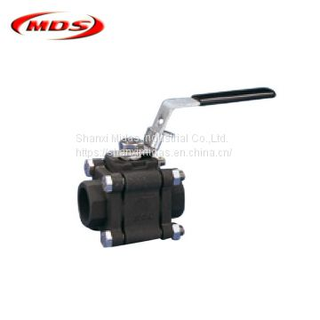 carbon steel 3PC forged ball valve dn100