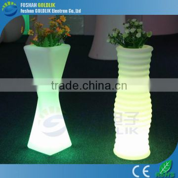Coffee Shop Flower Vase Decorative Light Light up Plastic Flower Pot