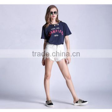 2017 New fashion jeans plus size denim shorts in 4 colors thin style for girls