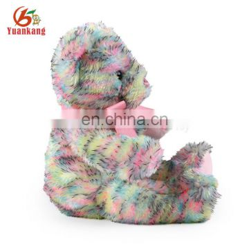 ICTI factory plush colorful teddy bear toy for kids