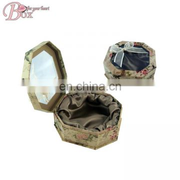 Taobao Luxury Flower Hexagon Paper Gift Packing Boxes