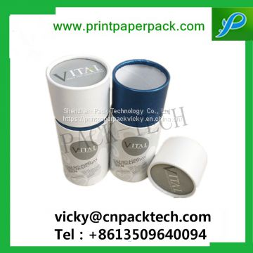 Custom Rigid Cylindrical Coated Paper Top and Bottom Lid Box Round Tea Packaging Gift