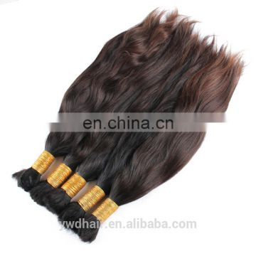 8A1KG Russian Virgin Hair Straight Bulk No Weft Human Hair Bulk For Braiding Ponytail Virgin Hair Natural Brown Color