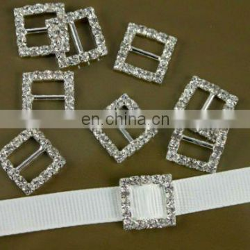 Square Wedding Rhinestone Slide Buckle
