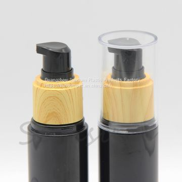 Wooden lotion bottle with cap