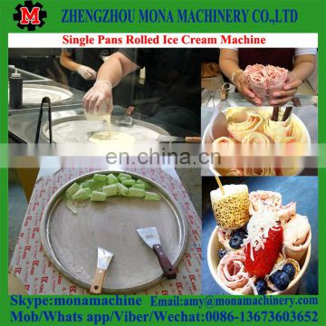 China best price and good selling stir ice cream roll machine with feedback