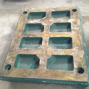 wear liner jaw plate of Mn13Cr2 suit C80 metso nordberg jaw crusher