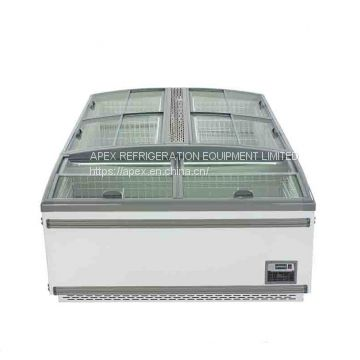 Open Top Combined Island Cabinet Refrigeration Deep Freezer For Supermarket