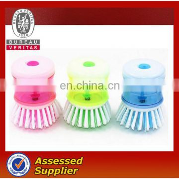 Fashion kitchen cleaning brush automatic liquid adding brush