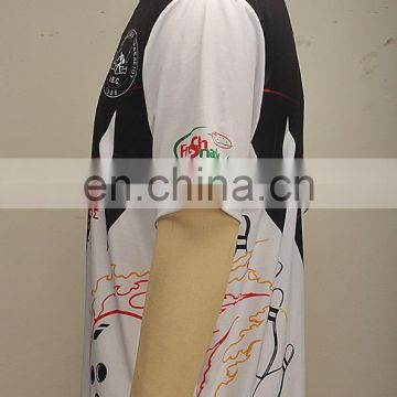 Custom your own design sublimated men bowling jerseys