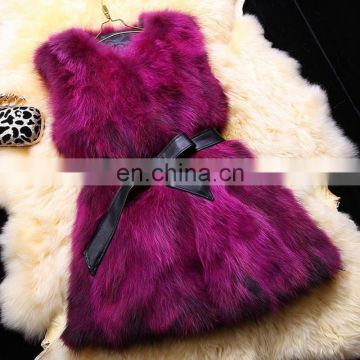 Factory direct lady fur suit real fox fur underwaist wholesale China
