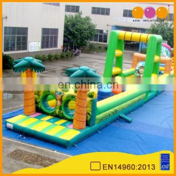 AOQI newest commercial inflatable obstacle course adult with free EN14960 certificate