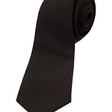 Satin Standard Length Silk Woven Neckties Plain Red