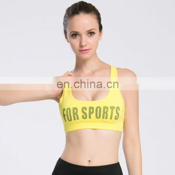 New printing organic campaign quick dry yoga padded underwear clothing